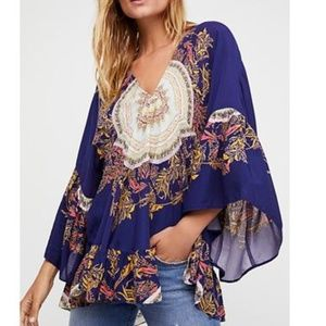 Free People Sunset Dreams Bell Sleeve Tunic Top